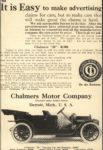 1910 CHALMERS-DETROIT It is Easy to make advertising ad 5.5″×8.25″ AACA Library