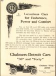 1910 CHALMERS-DETROIT Luxurious Car for Endurance Power and Comfort ad 6.25″×8.375″ AACA Library