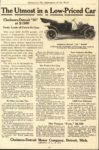 1910 CHALMERS-DETROIT The Utmost in a Low Priced Car McClures ad 5.75″×8.75″ AACA Library