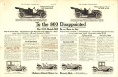 1910 CHALMERS-DETROIT To the 800 Disappointed AACA Library 2 pages