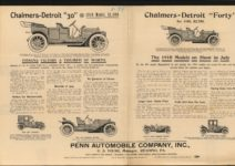 "1910 Chalmers-Detroit ""30"" 1910 $1,500 Chalmers-Detroit ""Forty"" for 1910 $2,750 AACA Library left of 2 pages 1"