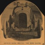 1914 KING ARTHUR KLEM DRIVING THE KING RACER King clipping AACA Library 4.5″×4.5″