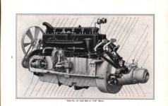 """1914 Packard MOTOR CARS INFORMATION """"2-38"""" and """"4-48"""" Left Side of """"2-38"""" Motor PACKARD MOTOR CAR COMPANY, DETROIT, MICHIGAN Antique Automobile Club of America Library page 44"""