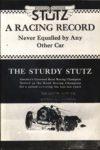 STuTZ RACING RECORD THE STURDY STUTZ AACA Library 6.25″×9.25″ xerox page 1