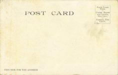 1906 TRACY In his 90 H.P. Locomobile Dederick Bros. postcard back