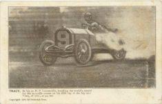 1906 TRACY In his 90 HP Locomobile Dederick Bros. postcard front