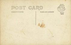 1908 ca. JACK DALLAS AERONAUT ROCK SPRINGS PARK RPPC back