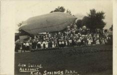 1908 ca. JACK DALLAS AERONAUT ROCK SPRINGS PARK RPPC front