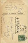1909 Coby Cup MARION CAR, C. STUTZ-DRIVER postcard back