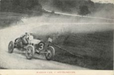 1909 Coby Cup MARION CAR, C. STUTZ DRIVER postcard front 1