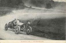 1909 Coby Cup MARION CAR, C. STUTZ-DRIVER postcard front