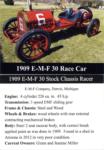 1909 E-M-F 30 Racer trading card