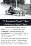 "1909 Locomobile Model ""I"" Racer trading card"