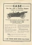 1910 8 31 CASE The Car with a Famous Engine THE HORSELESS AGE 9″×12″ page 22