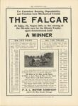 1910 8 31 THE F. A. L. CAR A WINNER Elgin ILL THE HORSELESS AGE 9″×12″ page 31