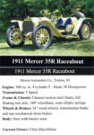 1911 Mercer 35R Raceabout trading card