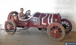 1911 STUTZ colorized Fresno, California library