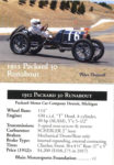 """1912 Packard """"30"""" Runabout Racer trading card"""