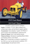 1915 Ford Racer trading card