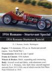 1916 Romano-Sturtevant Special trading card