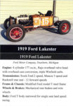 1919 Ford Lakester trading card