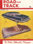 1950 12 ROAD and Track The Motor Enthusiasts Magazine 8.25″×11″ Front cover
