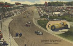 1950 ca. Indy 500 Indianapolis Motor Speedway The Annual 500 Mile Classic Indianapolis, Indiana linen postcard front