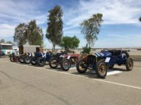 2018 5 5 Blain Motorsports Foundation (L-R) 1919 Lakester, 1912 Packard 30, 1916 National AC, 1916 Sturtevant, 1911 National SR at Buttonwillow, CAL