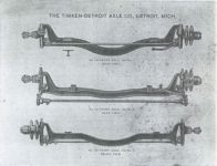 1910 – 1911 TIMKEN-DETROIT AXLE CO TYPES OF FRONT AXLES FOR PLEASURE CARS Bulletin No. 16 2nd Edition GC xerox page 2