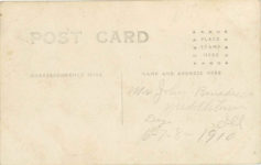 1910 WRECK OF THE VREDENBURGH STODDARD-DAYTON CAR ILLINOIS STATE FAIR 1910 POST/PEORIA RPPC back