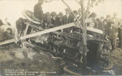 1910 WRECK OF THE VREDENBURGH STODDARD-DAYTON CAR ILLINOIS STATE FAIR 1910 POST/PEORIA RPPC front