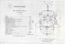 1911 ca. STUTZ SPECIFICATIONS Type AU 4CYL Wisconsin Motor GC xerox