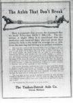 1911 ca. Timken-Detroit Axles The Axles That Don't Break MOTOR AGE GC xerox