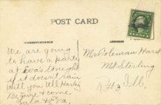 1912 ca. Fair Ground Scene, Springfield, Ill postcard back