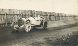 1913 STUTZ Tacoma Raceway Montamarthon Race Car 8 Earl Cooper RPPC front