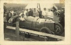 "1913 ca. CASE ""WILD BILL"" ENDICOTT CASE CAR TORNADO A.e.M. 27 RPPC front"