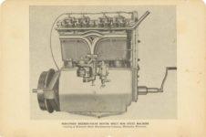1915 ca. STUTZ WISCONSIN SIXTEEN VALVE MOTOR BUILT FOR STUTZ MACHINE 8″×5.5″ GC