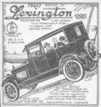 1920 Lexington newspaper clip AC