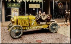 1920 ca. LEXINGTON Car No. 7 at dealer color AC