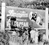 """1920 """"A billboard was constructed in 1920 by the entrance to the Pikes Peak Highway"""" AC"""
