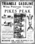 1920 ca. TRIANGLE GAS PIKES PEAK ad AC
