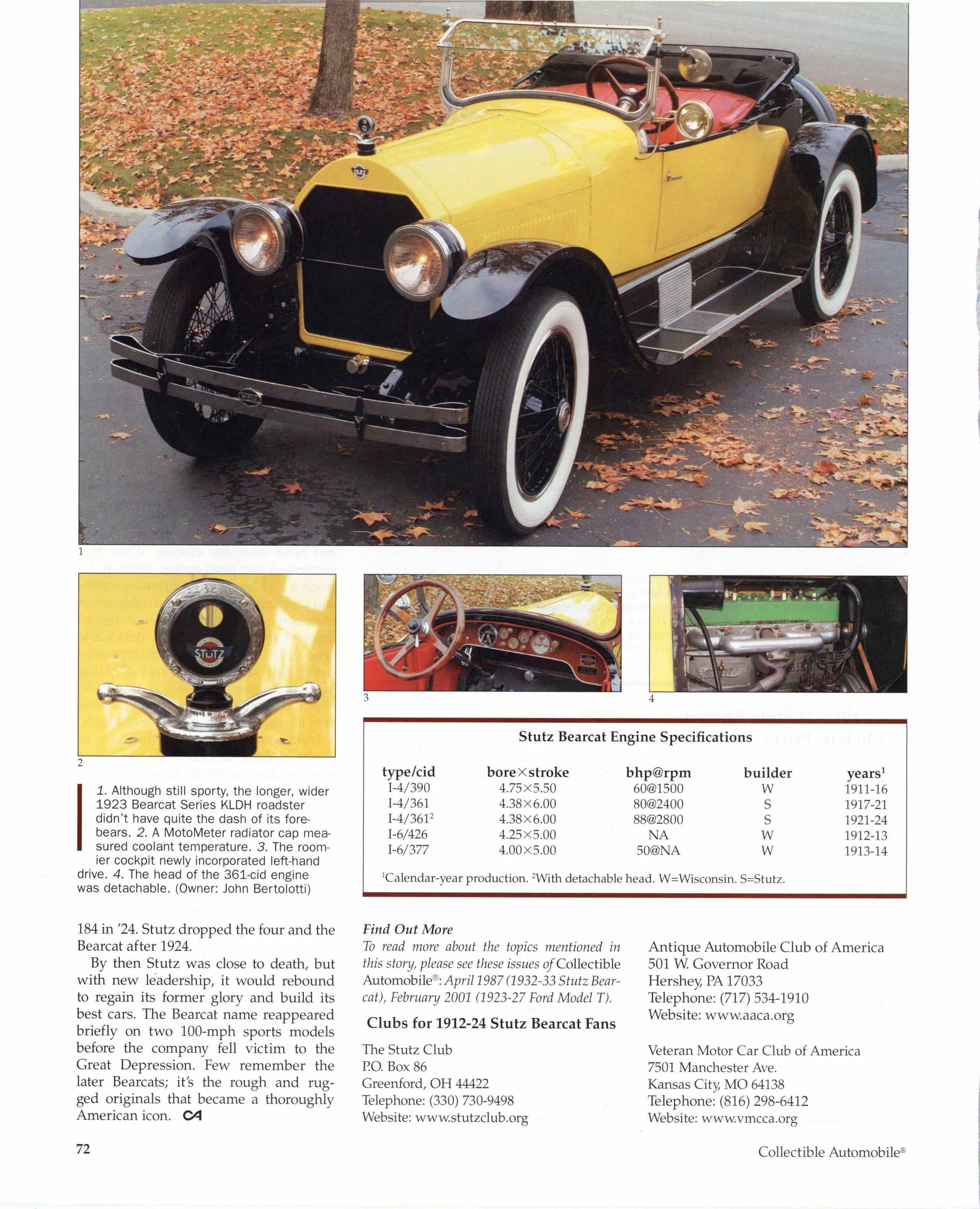 """STUTZ American Throughout"""" Harry C  Stutz and the 1912-24"""