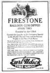 1920 ca. FIRESTONE BALLOON GUM DIPPED STOCK TIRES ad AC