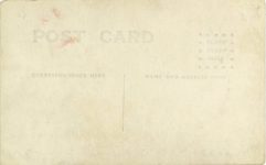 1917 ca. DISBROW Louis Disbrow at wheel of a LOUIS DISBROW SPECIAL RPPC GC back