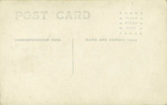 1917 ca. DISBROW Louis Disbrow at wheel of a LOUIS DISBROW SPECIAL and two others RPPC GC back