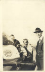 1917 ca. DISBROW Louis Disbrow at wheel of a LOUIS DISBROW SPECIAL and two others RPPC GC front