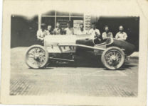 1917 ca. Unknown race car No. 11 left side 3″×2″ GC snapshot 2