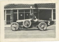 1917 ca. Unknown race car No. 2 left side 3″×2″ GC snapshot