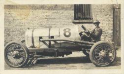 1917 ca. Unknown race car future car No. 11?  left side 4″×2.25″ GC snapshot 1