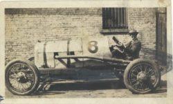 1917 ca. Unknown race car future car No. 11?  left side 4″×2.25″ GC snapshot 2